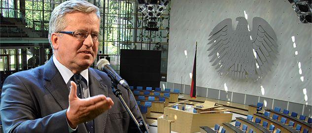 Prezydent Bronisław Komorowski zabierze głos w niemieckim Bundestagu (fot. PAP/Jacek Turczyk/wikipedia.org)