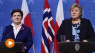 Premier Beata Szydło spotkała się z premier Norwegii Erną Solberg (fot. PAP/Radek Pietruszka)