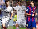 Gareth Bale, Angel Di Maria i Luis Suarez. Które miejsce zajęli w rankingu Top 10? Zaczynamy... (fot. Getty)