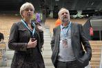 Szefowa TVP1 Iwona Schymalla i prezes TVP Juliusz Braun (fot. Ireneusz Sobieszczuk/TVP)