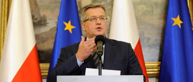 Prezydent Bronisław Komorowski  (fot. PAP/Bartłomiej Zborowski)