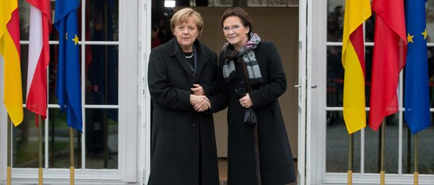Spotkanie premier Ewy Kopacz i kanclerz Angeli Merkel w Krzyżowej (fot. PAP/Maciej Kulczyński)