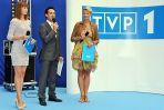 Konferencję poprowadzili Paulina Chylewska, Odeta Moro-Figurska i Radek Brzózka. (Fot. Jan Bogacz/TVP)