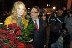 Aktorka Svetlana Khodchenkova i prezes TVP Andrzej Urbański (fot.TVP/Jan Bogacz)