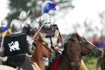 W 1410 roku był upał, w 2012 rycerzy zmoczył deszcz (fot. PAP/Adam Warżawa)