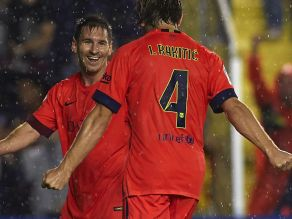 Lionel Messi i Ivan Rakitić (fot. Getty Images)