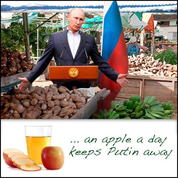 """Поляки начали акцию против запрета экспорта яблок в Россию: """"Это месть за Украину. Дай ответ Путину!"""" - Цензор.НЕТ 1803"""