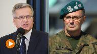 Prezydent Bronisław Komorowski i gen. Marek Tomaszycki (fot. PAP/Paweł Supernak, Piotr Wittman)