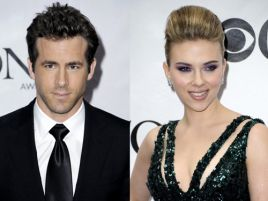 Ryan Reynolds i Scarlett Johansson (fot. Peter Foley/PAP/EPA)
