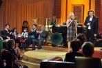 Autorka programu Magdalena Pawlicka i Zbigniew Wodecki w roli prowadzących koncert (fot. J. Bogacz/TVP)