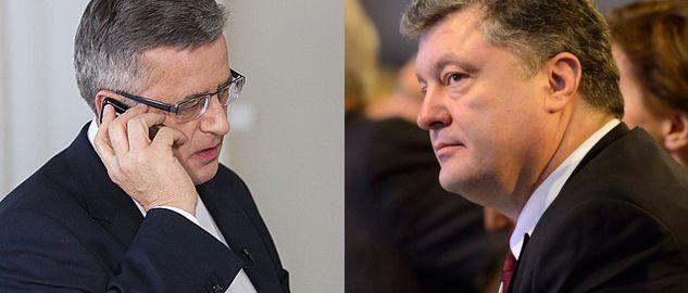 Prezydent Bronisław Komorowski rozmawiał z prezydentem  Ukrainy Petrem Poroszenką  (fot. prezydent.pl, PAP/EPA/JEAN-CHRISTOPHE BOTT)
