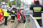 Wypadek w Al. Krakowskiej. Zablokowany ruch tramwajów