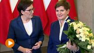 Ewa Kopacz i Beata Szydło w KPRM (fot. TVP Info)