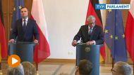 Prezydent Andrzej Duda  i prezydent Niemiec Joachim Gauck (fot. TVP Info)