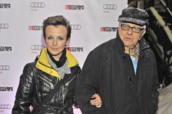 Andrzej Łapicki z żoną Kamilą (fot. Euzebiusz Niemiec/AKPA)