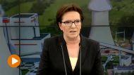 Premier Ewa Kopacz w elektrowni Turów w Bogatyni