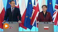 Premier Wielkiej Brytanii David Cameron i premier Beata Szydło (fot. TVP Info)