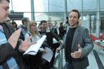 Casting odbył się w hallu głównym nowego budynku TVP (Fot. Ireneusz Sobieszczuk)