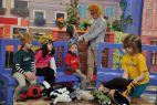 Dzieci przebierają się za zwierzęta i rozmawiają o wizycie w zoo (fot. TVP)