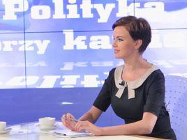 """Małgorzata Serafin – jedna z prowadzących """"Politykę przy kawie"""" (fot. Ireneusz Sobieszczuk/TVP)"""