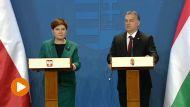 Premier Beata Szydło i premier Węgier Viktor Orban (fot. TVP Info)