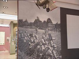 Wystawa pokazuje wojenny dramat.