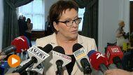 Premier Ewa Kopacz (fot. TVP Info)