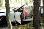 Przejażdżka kabrioletem skończyła się katastrofą (fot. K. Świeżak)