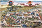 Planorama Łowicza G. Brauna i F. Hogenberga w dziele Civitatis Orbis Terrarum z pocz. XVII w.