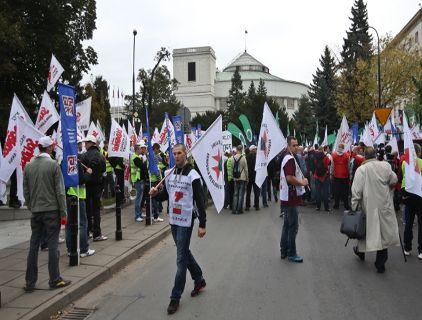 Górnicy po Sejmem