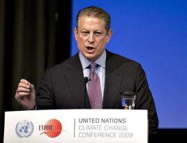 Al Gore trochę przesadził w trakcie przemówienia w Kopenhadze (fot. arch. PAP/EPA/HENNING BAGGER)