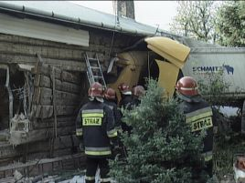Kierowca nie wie, jak doszło do kolizji.