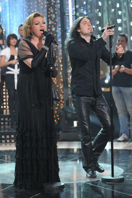 Piotr Cugowski i Małgorzata Walewska podczas występu (fot. Ireneusz Sobieszczuk/TVP)