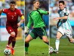 Cristiano Ronaldo, Manuel Neuer i Lionel Messi (fot. Getty Images)
