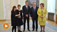 """Twórcy filmu """"Ida"""" gościli w Pałacu Prezydenckim (fot. PAP/Bartłomiej Zborowski)"""