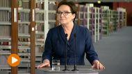 Konferencja premier Ewy Kopacz po posiedzeniu rządu w Bydgoszczy (fot. TVP Info)
