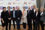 Goście konferencji z prezesem TVP Juliuszem Braunem. (fot. I. Sobieszczuk/TVP)