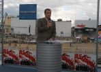 Na stanowisku TVP przed koncertem Jeana Michela Jarre'a w Stoczni Gdańskiej (fot. Irneusz Sobieszczuk/TVP)