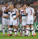 Bawarczycy na Stadio Olimpico nie mieli litości dla Romy i zdeklasowali rywali 7:1 (fot. Getty Images)