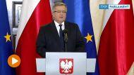 Prezydent Bronisław Komorowski (fot. TVP Info)