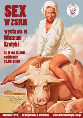 """Wystawa """"Sex w ZSRR"""" w warszawskim Muzeum Erotyki (fot. historia.org.pl)"""