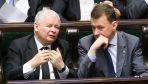Partia Jarosława Kaczyńskiego i Mariusza Błaszczaka prowadzi w sondażach (fot. PAP/Paweł Supernak)