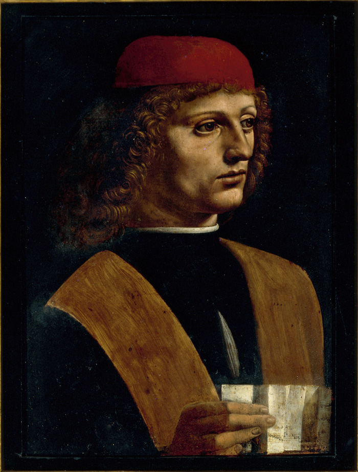 """Muzyk"" (fot. © Veneranda Biblioteca Ambrosiana, Pinacoteca – Milan (99)"