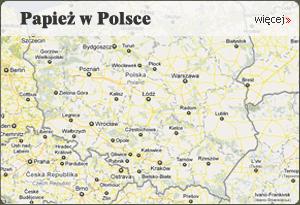 Pawież w Polsce - mapa