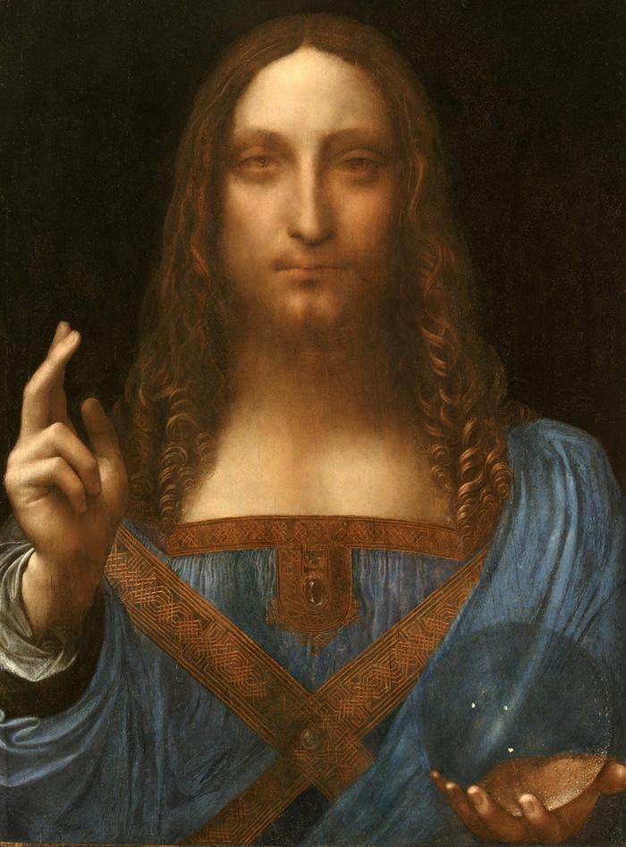 """Chrystus jako Salvator Mundi"", Leonardo da Vinci,  (fot. © 2011 Salvator Mundi, LLC. Photo Tim Nighswander/Imaging4Art)"